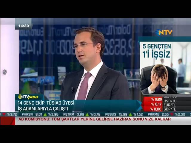 TÜSİAD Yönetim Kurulu Üyesi Murat Özyeğin NTV Finans Cafe Programı