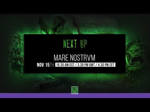 Mare Nostrvm Stream 4:30 PM - 6:00 PM CET!