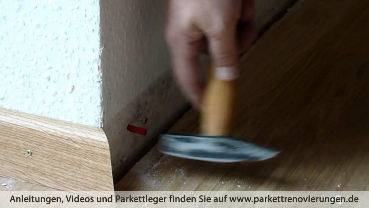 dübel setzen und parkett-scheuerleiste / sockelleiste befestigen