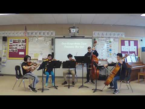 "Seven Bridges Middle School String Quintet ""Greensleeves"" arranged by John Caponegro"