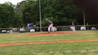 peyton ballantyne pitching 1 inning 1 h 0 er 1 bb and 1 k vs 14u team 3 12 2017