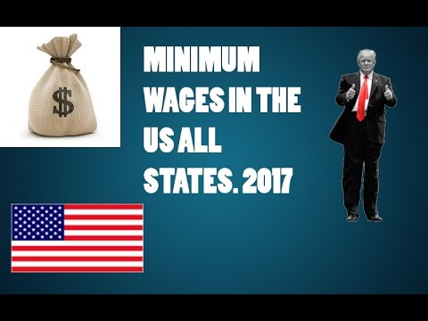Minimum Wages in all US states [2017]