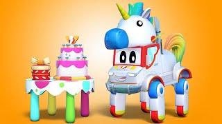 С днём рождения Супер Грузовик Единорог Автомобильный город Детские мультфильмы