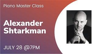 Piano Master Class | Alexander Shtarkman