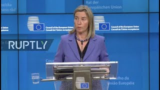 LIVE: Mogherini holds press conference after Foreign Affairs Council meeting in Brussels