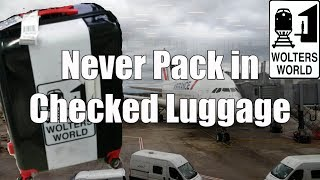 5 Things That You Should NEVER Put in Your Checked Luggage