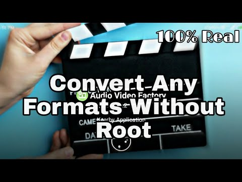 How To Convert(webm/3gp/Mkv....etc) Any Video Formats To MP4 Without Root.
