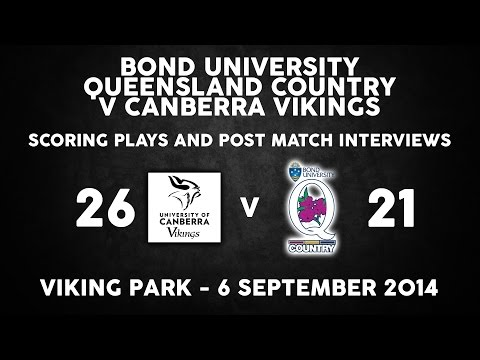 Bond University Queensland Country v Canberra Vikings post match interviews