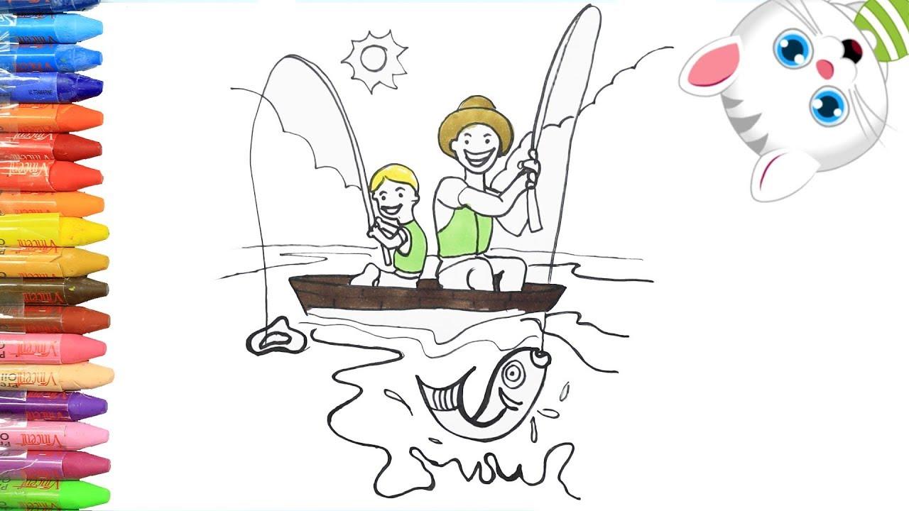 Cómo Dibujar Y Colorear Dia Del Padre Dibujos Para Niños Con Mimi Aprender Colores