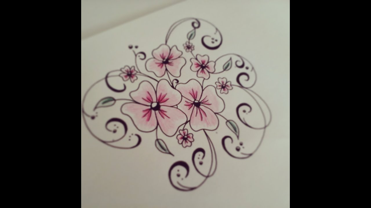 how to draw flowers for beginners easy version tattoo