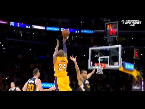 Kobe Bryant Amazing last 3 minutes in his FINAL GAME vs Jazz (2016.04.13)