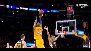 Kobe Bryant Amazing last 3 minutes in his FINAL GAME vs Jazz 2016.04.13