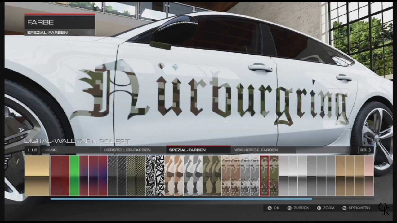 Forza motorsport 5 livery editor guide how to create golden special colored logos fonts youtube