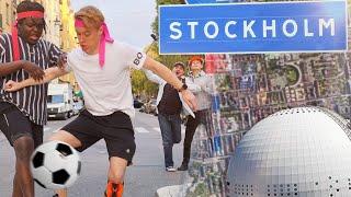 Vi spelade fotbollsmatch genom hela Stockholm