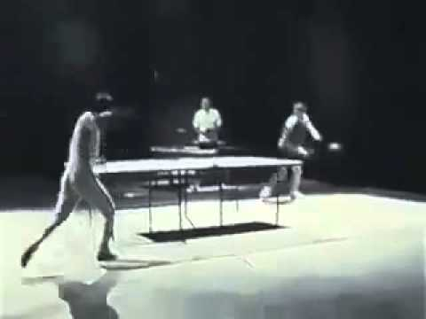 Bruce Lee plays Ping Pong
