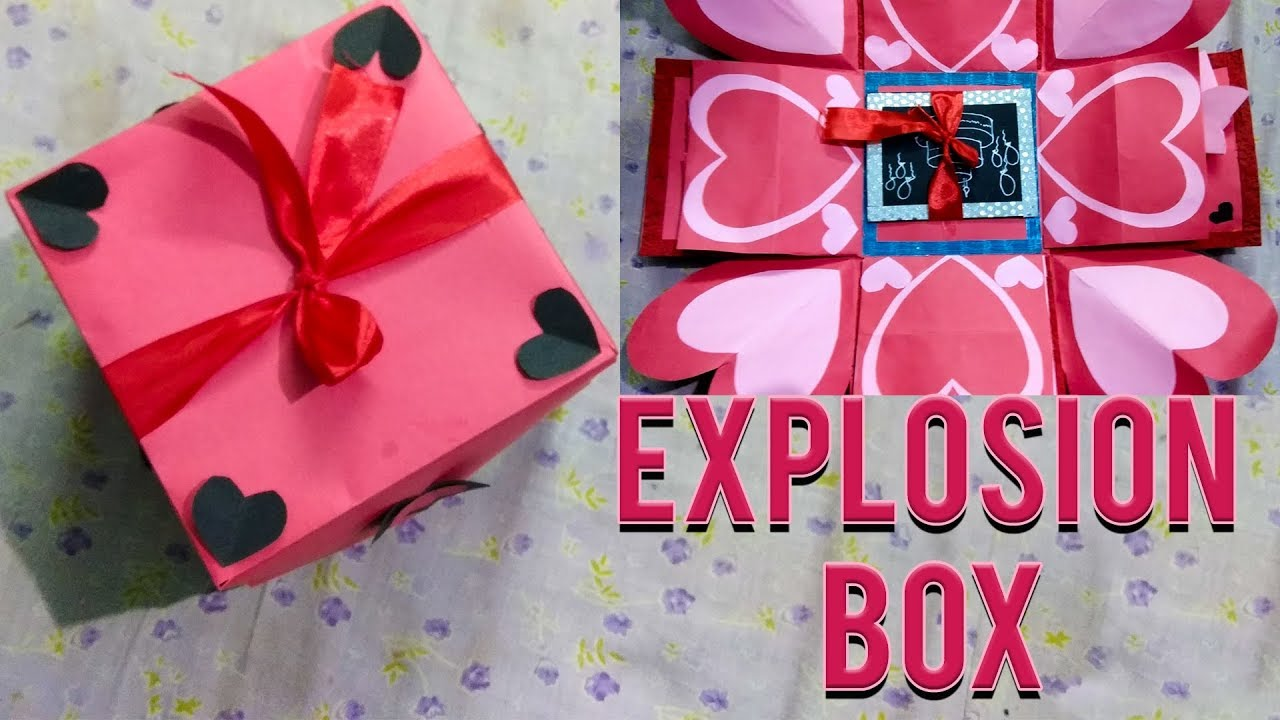 Explosion box idea i birthday valentine anniversary special