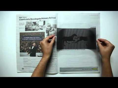 Midalia Steel animated newspaper ad
