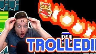 I Fell For The Same Troll EIGHT TIMES In This Mario Maker Level!!!