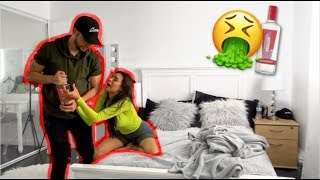 DRUNK GIRLFRIEND PRANK ON BOYFRIEND *HILARIOUS*