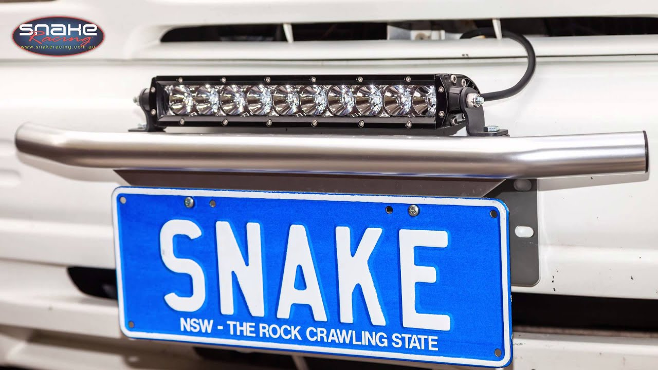 Led Light Bar Number Plate Mount Kit Snake Racing Youtube