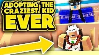 ADOPTING THE CRAZIEST KID EVER! (ROBLOX Adopt Me)