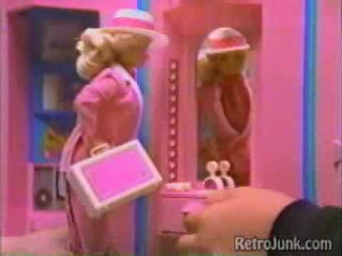 Vintage 80 S Barbie Home And Office Commercial Youtube