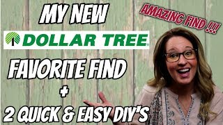 My NEW Dollar Tree FAVORITE FIND + 2 QUICK and EASY DIY's using it | $2 DIY