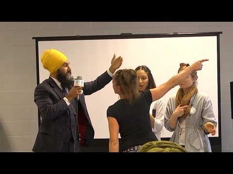 """We're not intimidated by hatefulness,"" Jagmeet Singh responds to heckler"