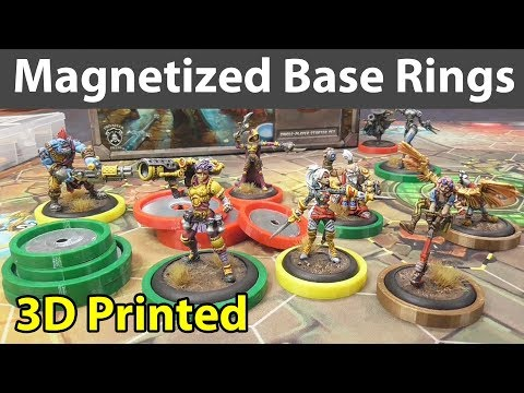 Magnetized Miniature Base Rings - 3D Printed