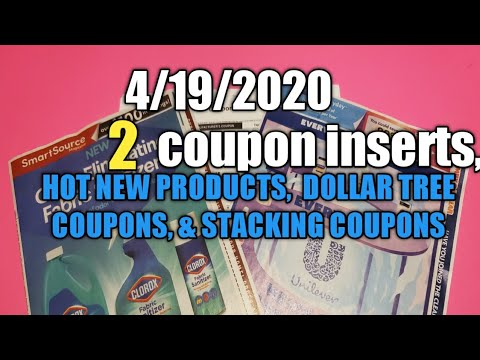 4/19/2020 COUPON INSERT REVIEW PLUS   INTERNET COUPONS NEW PRODUCTS  DOLLAR TREE   STACKING COUPONS