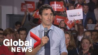 Canada Election: Justin Trudeau holds rally in Sherbrooke, Quebec | LIVE