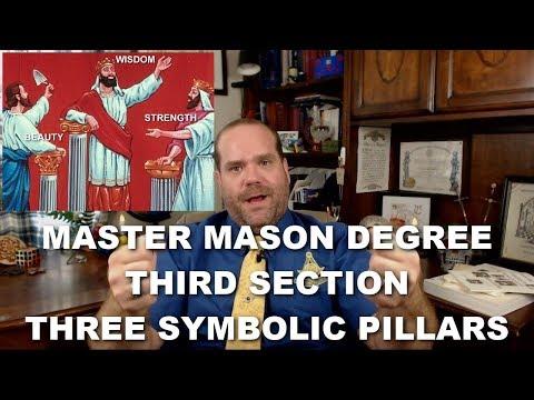 Master Mason Degree - Third Section - Three Symbolic Pillars - YouTube