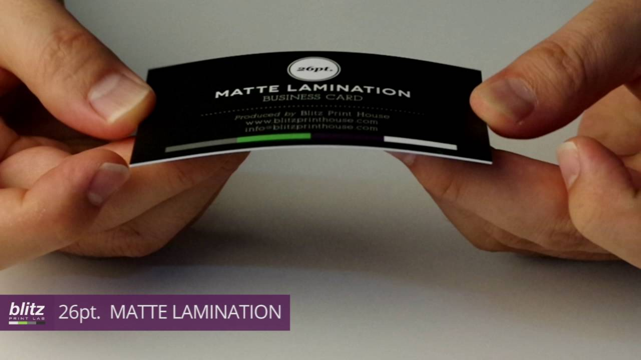 26pt. MATTE LAMINATION Business Card by Blitz Print House - YouTube
