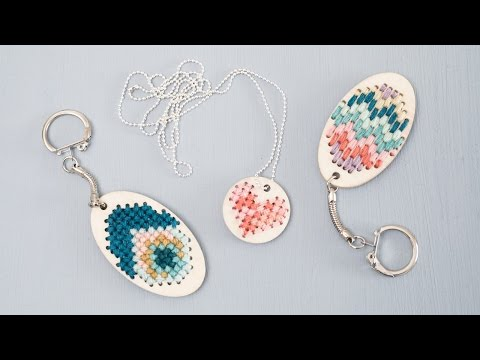DIY : Embroidered keychains and jewellery by Søstrene Grene
