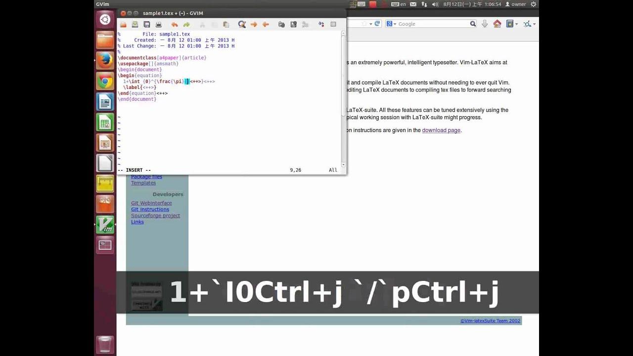 Edit LaTeX equations in Vim | Blog 1