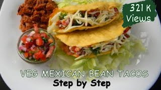 Veg Mexican Bean Tacos   Step by Step Recipe   Food Fiestaa