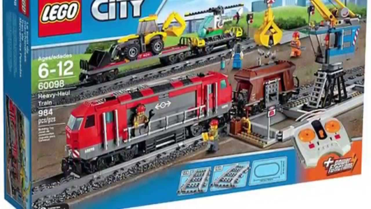 Lego City 60098 Heavy Haul Train Official Images 2015 - YouTube