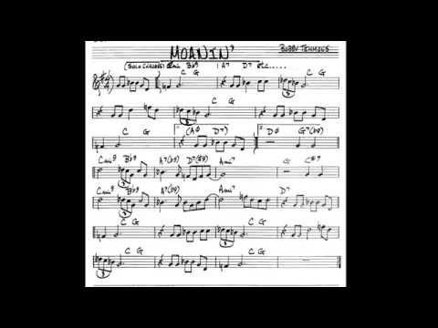 Moanin' (Bb/B flat instruments) Play along - Backing track