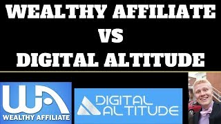 Wealthy Affiliate vs Digital Altitude Review - What Is the Best Affiliate Marketing Training Program
