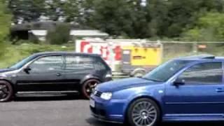 VW MANIA 2009- 1/4 mili  R32 vs. R32