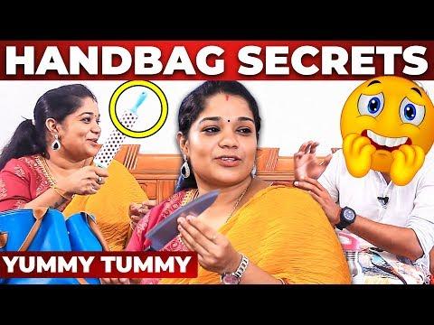 MINI KITCHEN Inside Yummy Tummy Aarthi's Handbag Revealed | What's Inside the HANDBAG