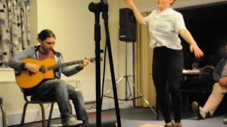 Free-style Jazz Tap Dancing to Gypsy Jazz - Adele Joel with Matt Holborn Quartet at Wakefield Jazz