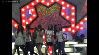 vuclip [FANCAM] 090703 SNSD - Genie Rehearsal On Music Bank Rehearsal