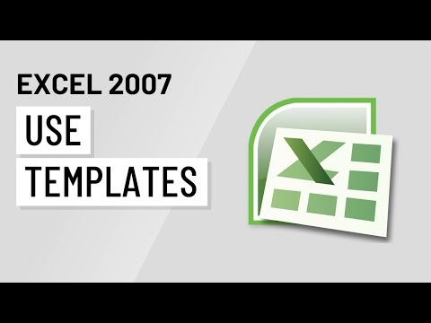 Excel 2007: Using Templates - YouTube