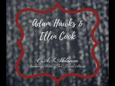 """Adam Hawks & Ellen Cook 2017 CASAblanca """"Dancing with the Local Stars"""" Practice"""