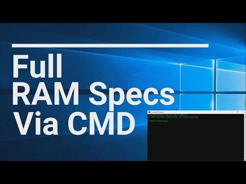 How To Know Your Full RAM Specification Via CMD In Windows 10