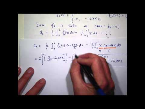 Fourier series: Odd + even functions