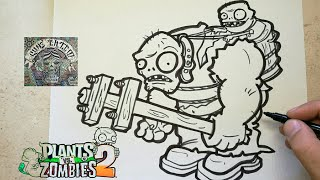 COMO DIBUJAR A ZOMBISTEIN - PLANTS VS ZOMBIES 2 / how to draw zombistein - plants vs zombies 2