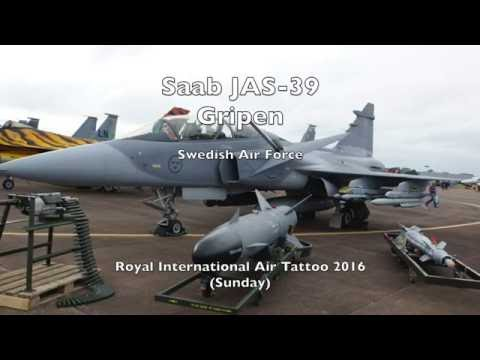 Swedish Air Force SAAB JAS-39 Gripen - Royal International Air Tattoo 2016 (Sunday)