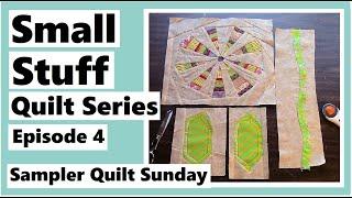 Small Stuff Quilt Series Ep.4 - My Flower Block Pieces - Sampler Quilt Sunday